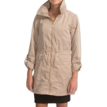 Ellen Tracy Techno Anorak Jacket - Zip Front, Stowaway Hood (For Women) in Khaki - Closeouts