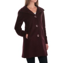 Ellen Tracy Wool-Angora A-Line Coat (For Women) in Bordeaux Marsala - Closeouts