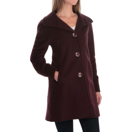 Ellen Tracy Wool Angora A Line Coat (For Women)