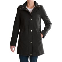 Ellen Tracy Wool Duffle Coat (For Women) in Black - Closeouts