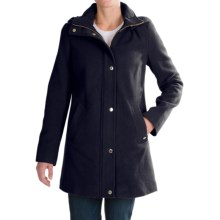Ellen Tracy Wool Duffle Coat (For Women) in Navy - Closeouts