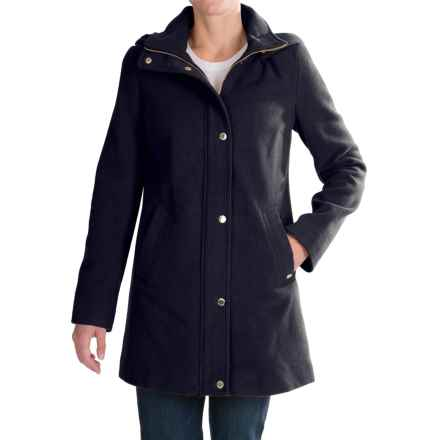 Ellen Tracy Wool Duffle Coat (For Women) in Navy - Closeouts