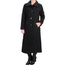 Ellen Tracy Wool Maxi Coat (For Women) in Charcoal - Closeouts