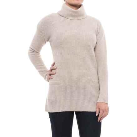 Ellen Tracy Wool Turtleneck Sweater (For Women) in Agate Heather - Closeouts