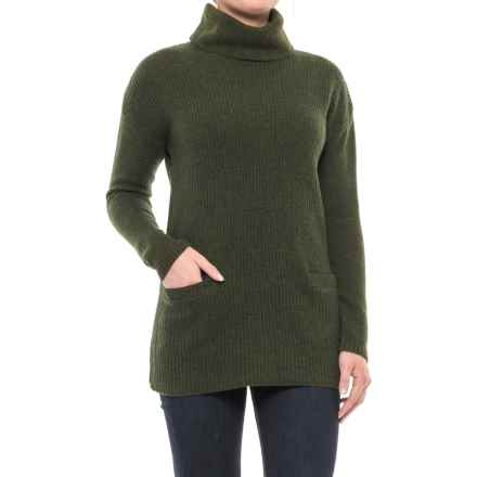 Ellen Tracy Wool Turtleneck Sweater (For Women) in Dark Olive Heather - Closeouts