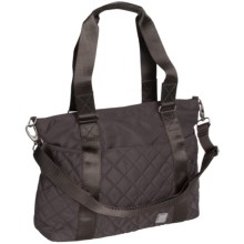 Ellington Annie Quilted Carryall Bag (For Women) in Charcoal - Closeouts