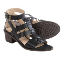 Elliott Lucca Lena Gladiator Sandals - Leather (For Women) in Black - Closeouts