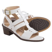 Elliott Lucca Lena Gladiator Sandals - Leather (For Women) in White - Closeouts
