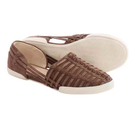 Elliott Lucca Rani Shoes - Leather, Slip-Ons (For Women) in Chocolate Suede - Closeouts