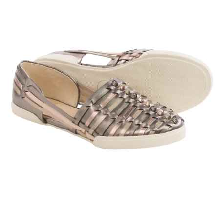 Elliott Lucca Rani Shoes - Leather, Slip-Ons (For Women) in Dark Gold Multi - Closeouts