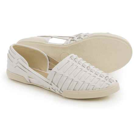 Elliott Lucca Rani Shoes - Leather, Slip-Ons (For Women) in White - Closeouts