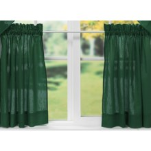 """Ellis Curtain Stacey Tailored Curtain Tiers - 56x24"""", Rod-Pocket Top in Harvest - Closeouts"""