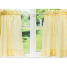 "Ellis Curtain Stacey Tailored Curtain Tiers - 56x36"", Rod-Pocket Top in Maize - Closeouts"