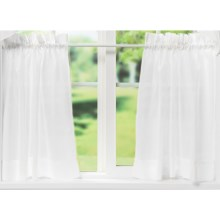 "Ellis Curtain Stacey Tailored Curtain Tiers - 56x36"", Rod-Pocket Top in White - Closeouts"