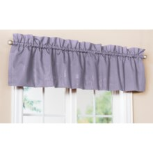 "Ellis Curtain Stacey Tailored Valance - 60x15"", Rod Pocket in Lilac - Closeouts"