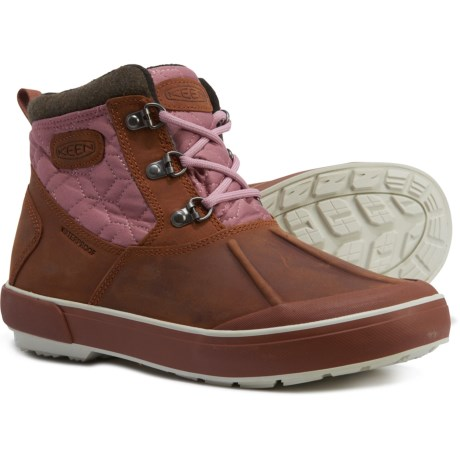 Elsa II Quilted Ankle Boots - Waterproof, Insulated (For Women) - TORTOISE SHELL (10 )