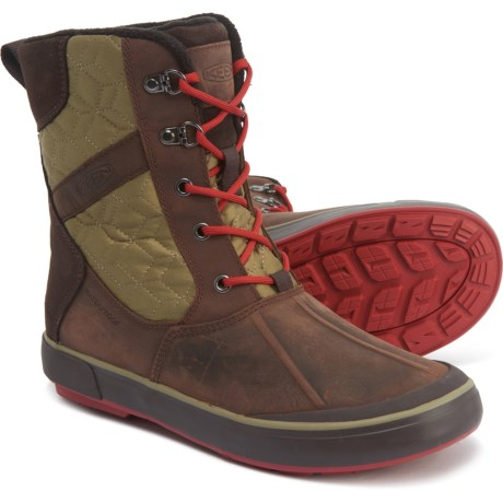Elsa II Quilted Boots - Waterproof, Insulated (For Women) - MULCH/MARTINI OLIVE (9 )