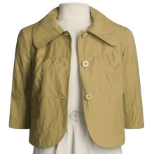 Emanuel Cotton-Rich Jacket - 3/4 Sleeve (For Women) in Brass - Closeouts