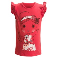 Embellished Ruffle Shirt - Sleeveless (For Infant and Toddler Girls) in Red W/Parisian Girl - 2nds