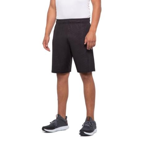 Embossed Print Basketball Shorts (For Men) - BLACK (S )