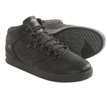 Emerica The Reynolds LX Mid Top Shoes - Leather (For Men) in Black - Closeouts