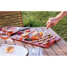 "Emile Henry Flame-Top Grilling-Baking Stone - 18x14"", Ceramic in Red - Closeouts"
