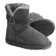 Emu Angels Lo Boots - Sheepskin-Lined, Suede (For Women) in Charcoal - Closeouts