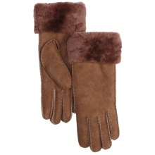 Emu Apollo Bay Sheepskin Gloves - Wool Lining (For Women) in Red Earth - Closeouts