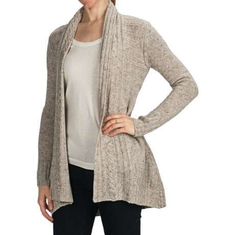 Emu Bellbird Creek Merino Wool Cardigan Sweater (For Women) in Sand Marle
