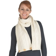 Emu Berridale Scarf - Woolmark® Merino Wool (For Women) in Natural - Closeouts