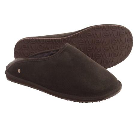 Emu Buckingham Slippers - Sheepskin, Suede (For Men) in Chocolate