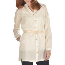 Emu Cabarita Shirt Dress - Merino Wool, Long Sleeve (For Women) in Natural - Closeouts
