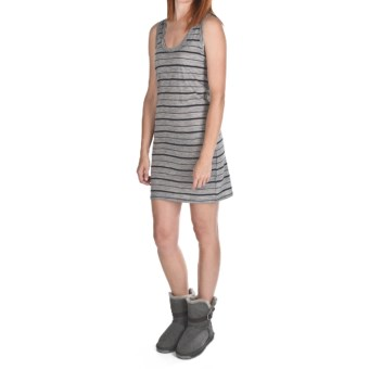 Emu Castaways Tank Dress - Merino Wool, Sleeveless (For Women) in Grey/Indigo