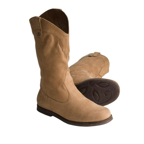 Emu El Rancho Western Style Boots - Lamb Leather (For Women) in Chestnut