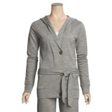 Emu Erskine French Terry Hoodie - Merino Wool (For Women) in Grey - Closeouts