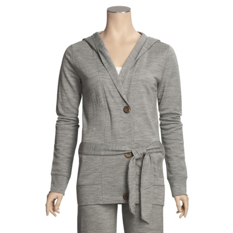 Emu Erskine French Terry Hoodie - Merino Wool (For Women) in Grey