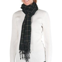 Emu Krambruk Check Scarf - Merino Wool (For Women) in Black/Camel