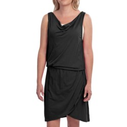EMU Kurrajong Dress - Merino Wool Jersey, Sleeveless (For Women) in Black