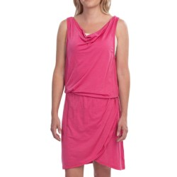 EMU Kurrajong Dress - Merino Wool Jersey, Sleeveless (For Women) in Pink
