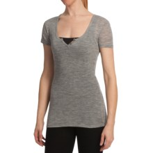 Emu Pambula T-Shirt - Merino Wool, Short Sleeve (For Women) in Grey Marle - Closeouts