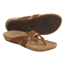 Emu Portsea Sandals - Leather-Sheepskin (For Women) in Full Grain/Tan - Closeouts