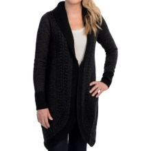 EMU Sheffield Wrap Sweater Jacket - Merino Wool (For Women) in Black - Closeouts
