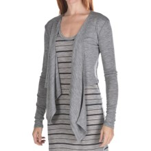Emu Shell Cove Cardigan Sweater - Merino Wool, Lightweight (For Women) in Grey Marle - Closeouts