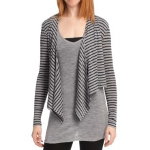 Emu Shell Cove Fly-Away Cardigan Sweater - Merino Wool (For Women) in Grey Marle/Black - Closeouts