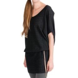 EMU Shoreham Sweater Dress - Merino Wool, 3/4 Sleeve (For Women) in Black