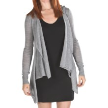 Emu Southend Hooded Cardigan Sweater - Merino Wool (For Women) in Grey Marle - Closeouts