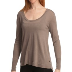 Emu Tahnum Sands Pullover - Soft Merino Wool, Long Sleeve (For Women) in Mushroom