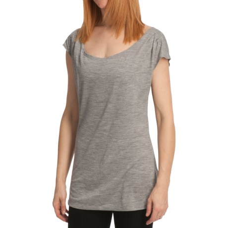 Emu Woonona Merino Wool T-Shirt - Short Sleeve (For Women) in Grey Marle