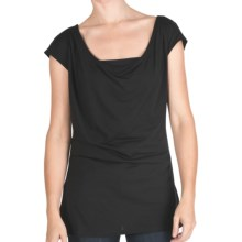 Emu Woonona Oversized T-Shirt - Merino Wool, Short Sleeve (For Women) in Black - Closeouts