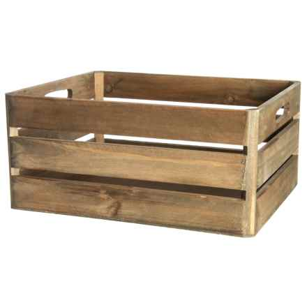Enchante Rectangle Wood Storage Bin in Natural - Closeouts
